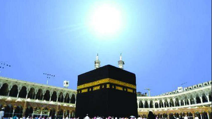An astronomical phenomenon causes the disappearance of the Kaaba's shadow on Thursday afternoon..Details
