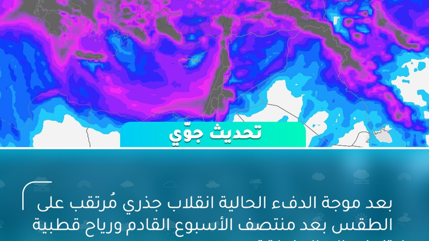 بعد موجة الدفء الحالية انقلاب جذري مُرتقب على الطقس بعد منتصف الأسبوع القادم