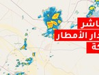 The direct rain radar for the city of Hafar Al-Batin