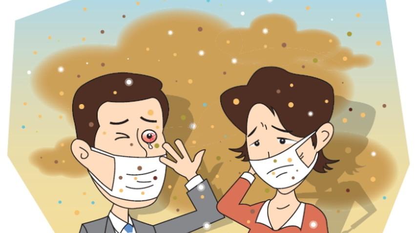 تأثير الغبار على صحة الانسان..وارشادات صحية هامة للتعامل مع الموجات الغبارية