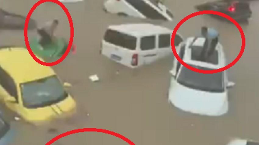 بالفيديو | مشاهد كارثية ومرعبة لفيضانات وسيول مقاطعة هينان جنوب الصين .. أغرقت كل شيء!