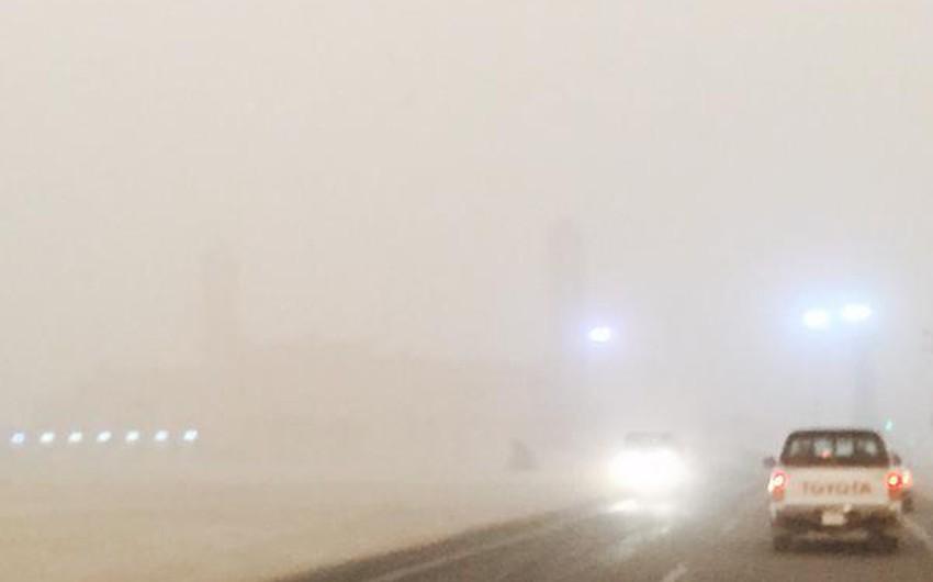 بالصور: موجة كثيفة من الغبار تضرب القريات عصر الاثنين