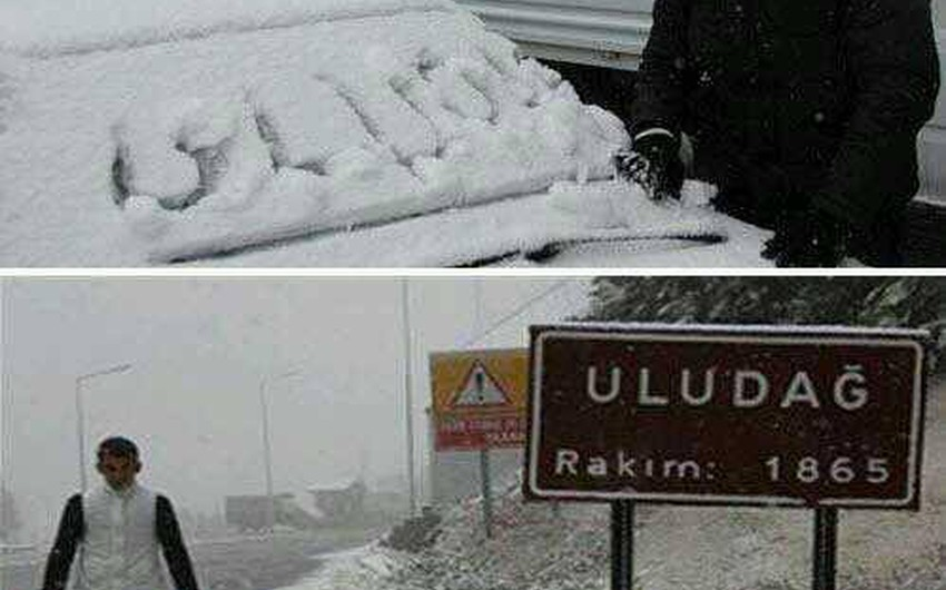 تراكم الثلوج في بلدة أولوداغ الجبلية