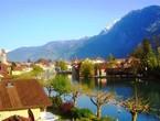 بالصور : جمال مدينة إنترلاكن السويسرية