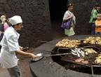 بالصور: مطعم يشوي اللحم لزبائنه على فوهة بركان