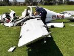 تحطم طائرة في طريق مزدحم بفلوريدا (فيديو)