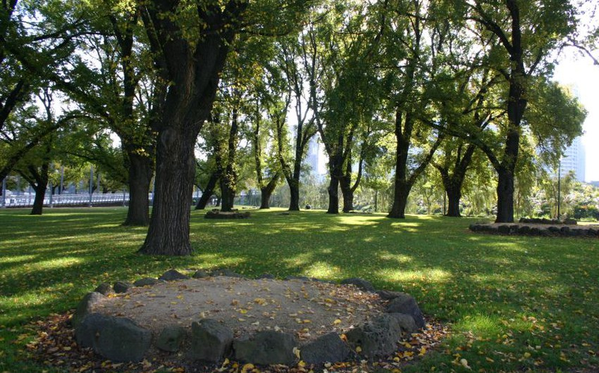 أحد الحدائق في مالبورن