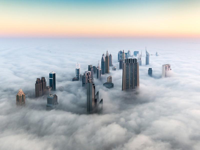 كيف تبدو مدينة دبي من السماء طقس العرب