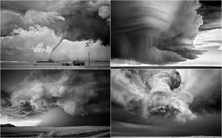 بالصور : شاهد أعنف العواصف الرعدية بالأبيض و الأسود | طقس العرب | طقس العرب
