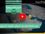 النشرة الأسبوعية | رياح وغبار في الرياض وبدء انكسار درجات الحرارة في العديد من المناطق