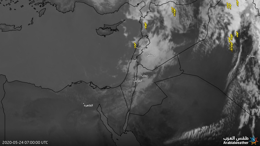 الأردن | أمطار متوقعة من جديد على أجزاء من عمان و البلقاء و الزرقاء ربما تكون رعدية غزيرة في بعض الأنحاء