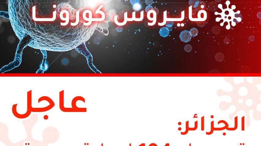 الجزائر | تسجيل 104 إصابة جديدة بالفايروس كورونا و 12 حالة وفاة