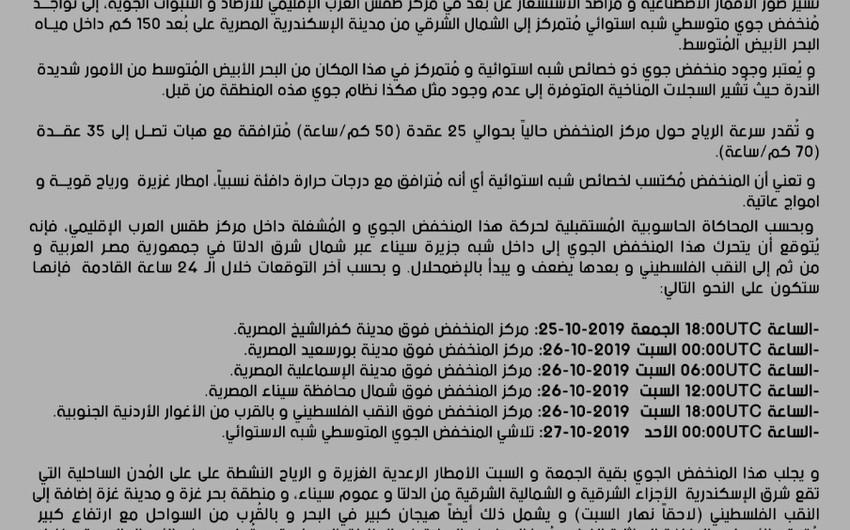 تأثيرات غير مباشرة على الأردن من المنخفض شبه الاستوائي