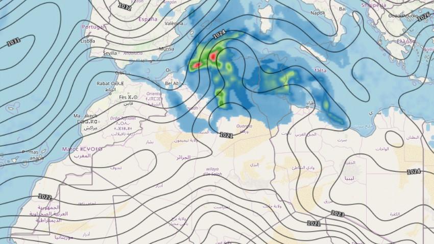تحديث حول المنخفض الجوي المتوقع نهاية الاسبوع