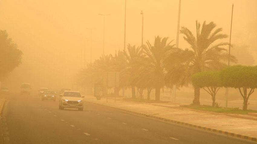 Irak   Activité dans la vitesse du vent poussiéreux d'Al-Bawareh vendredi