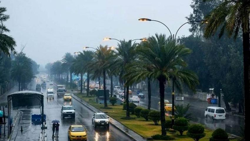 العراق | كتلة هوائية باردة ورطبة تندفع من بلاد الشام إعتباراً من الخميس وخلال نهاية الأسبوع