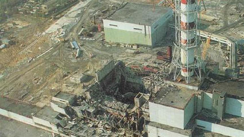 صورة للمفاعل النووي الذي شهد الإنفجار