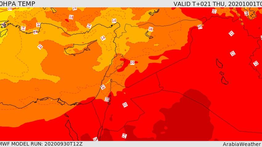الخميس تمهيد لتاثر البلاد بكتلة هوائية معتدلة