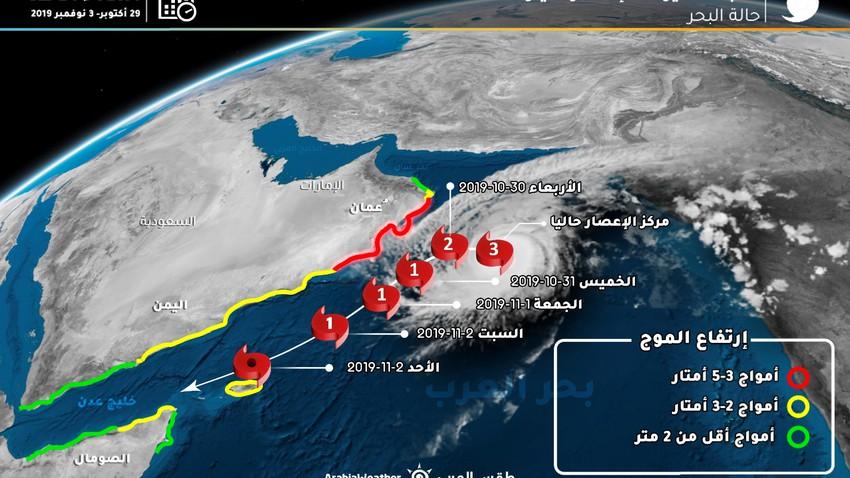 الاعصار كيار .. تأثيرات غير مباشرة على أجزاء من اليمن بداية الأسبوع القادم