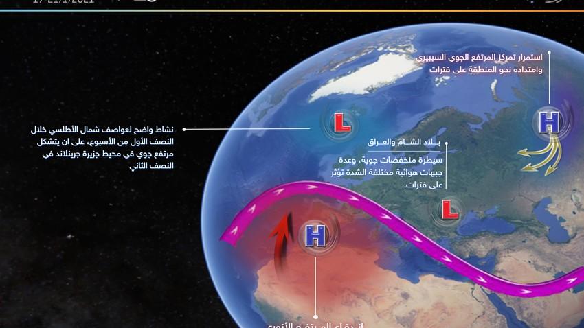 بعد انقطاع دام لعدة اسابيع -  سلسلة منخفضات جوية تؤثر على المملكة خلال الأيام القادمة