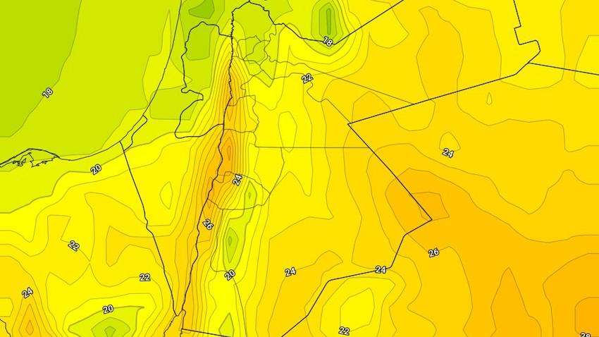 الخميس إنخفاض ملموس على درجات الحرارة وأجواء لطيفة