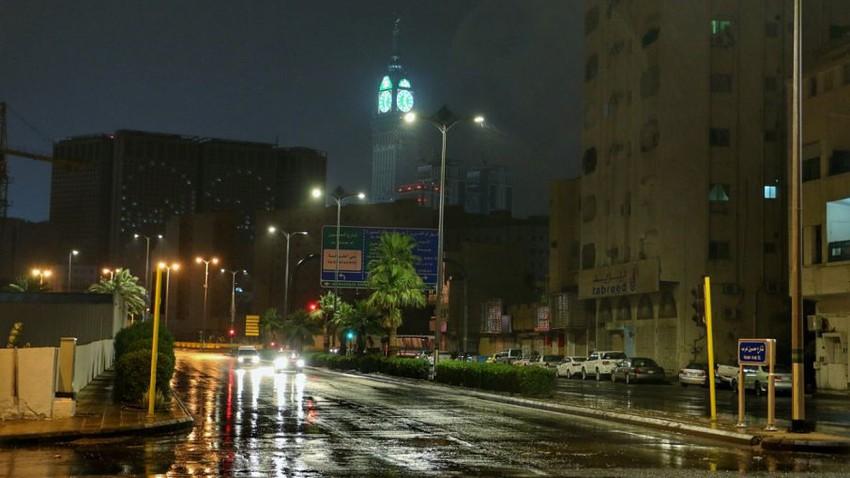 السعودية | تركز الأمطار الرعدية اليوم على مرتفعات مكة والطائف