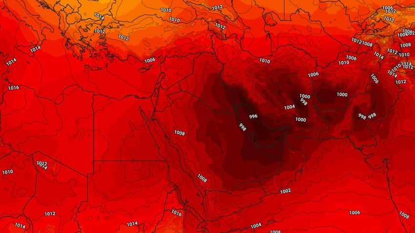 تحديث جوي - الإثنين أجواء حارة