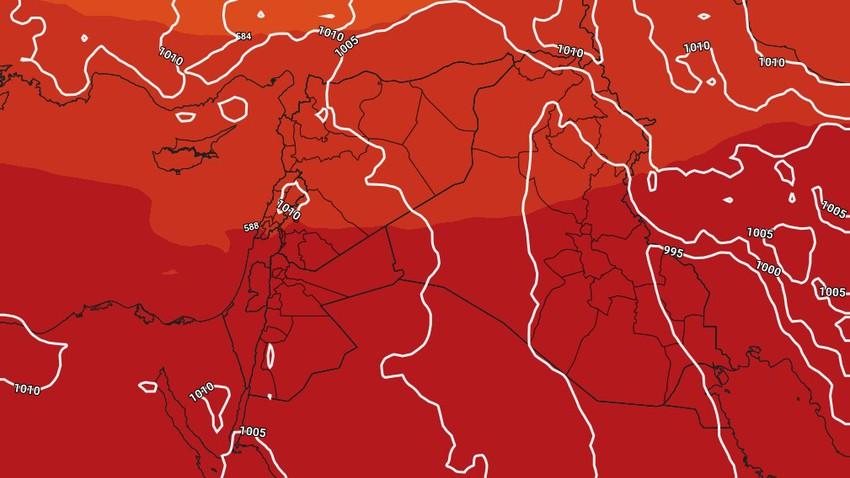 تحديث جوي - الثلاثاء إنخفاض طفيف على درجات الحرارة