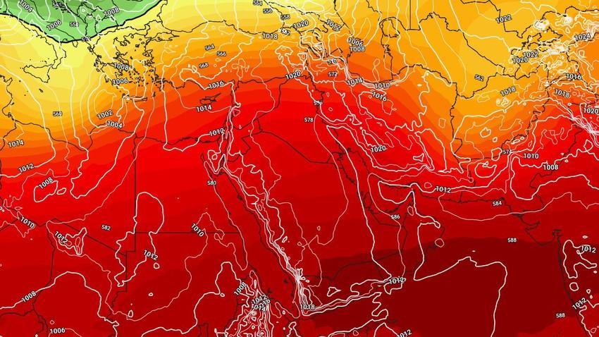 كتلة جافة وأجواء حارة اليوم