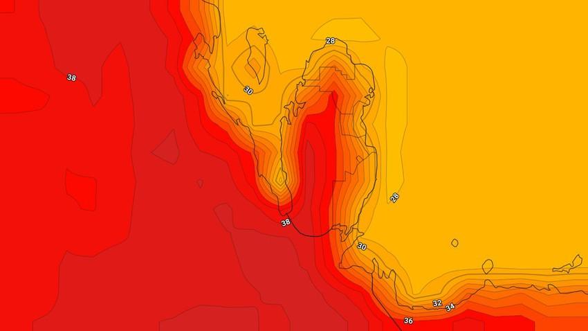 قطر | درجات الحرارة اقل من مُعدلاتها وفرصة ضعيفة لزخات خفيفة من الأمطار في اجزاء محدودة