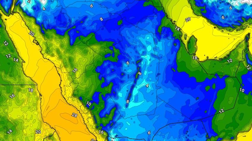 فجر وصباح الاثنين .. حرارات صفرية متوقعة في حائل واجزاء من شمال غرب السعودية