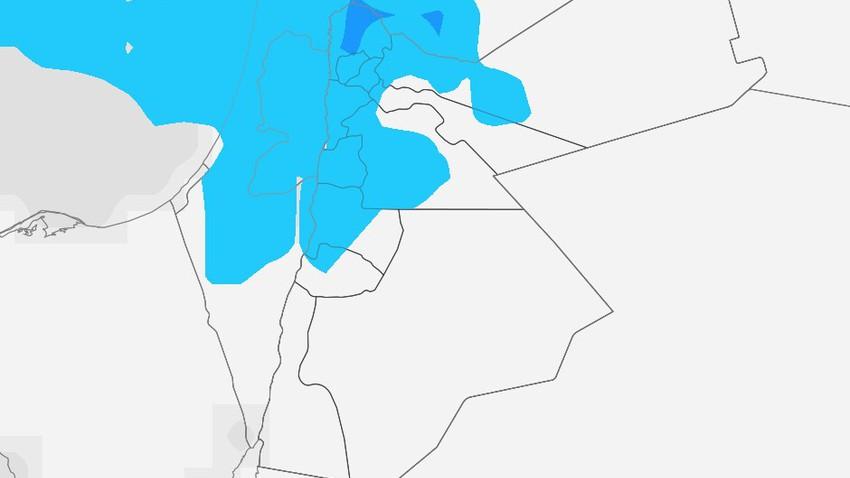 الأردن | زخات محلية من الأمطار في بعض مناطق المملكة في ساعات الليل