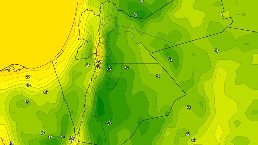 الليلة | انخفاض على درجات الحرارة مقارنة بالليالي  الماضية