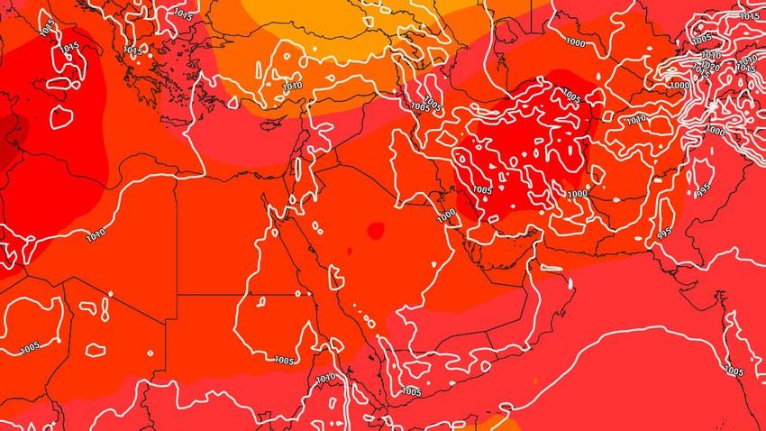 تحديث جوي - الأربعاء إرتفاع على درجات الحرارة