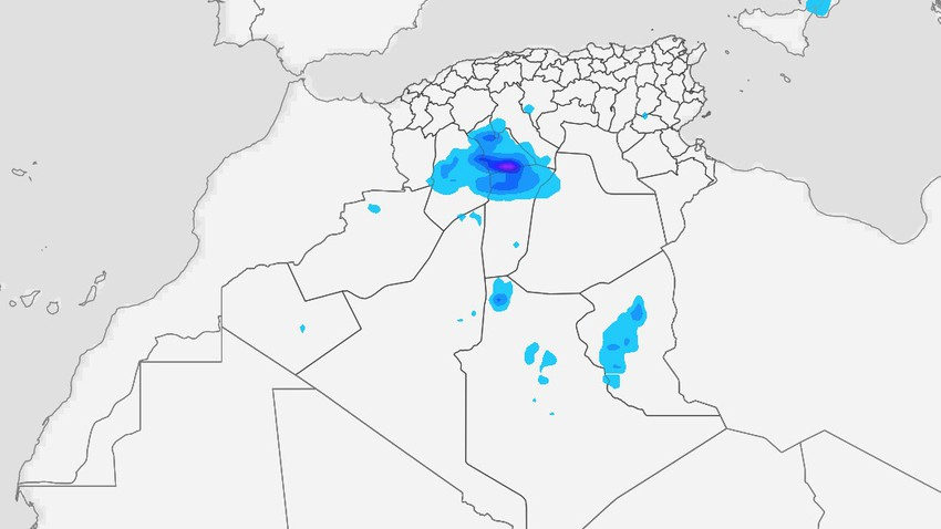 Algeria | Thunder showers of rain over the northern desert and the city of Ghardaia on Tuesday