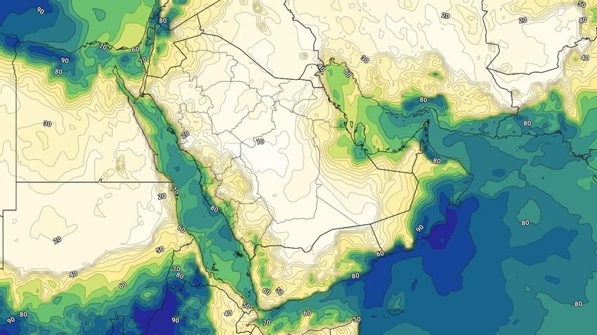 السعودية | طقس رطب بشكل كبير في المنطقة الشرقية يوم الخميس