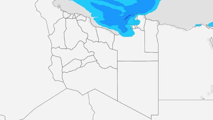 Libya | Showers of rain on the northern coasts in the coming days