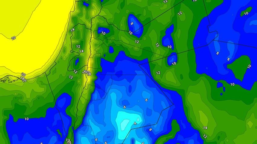 الليلة | طقس بارد مع هطول زخات رعدية من المطر في بعض المناطق