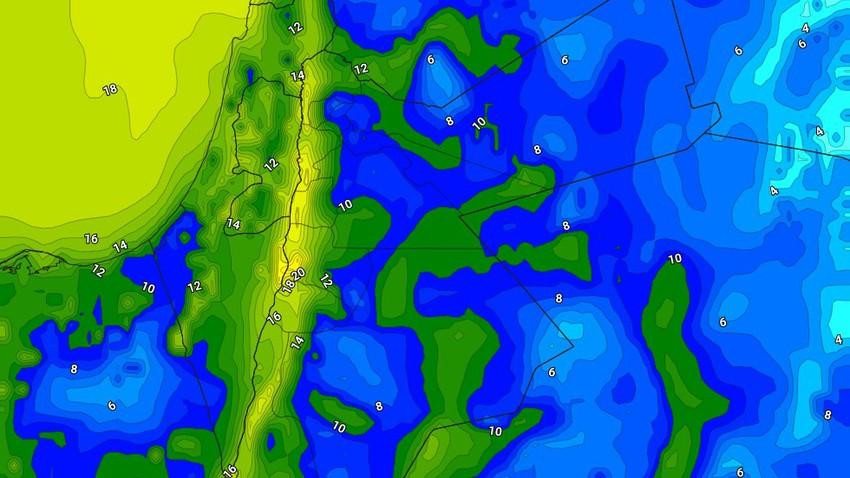 الليلة   ارتفاع واضح على درجات الحرارة الليلية مقارنة بالليالي السابقة