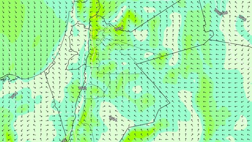 الليلة | عودة نشاط الرياح الشرقية على بعض المناطق وتنبيه من تزايد نسب الغبار بالاجواء
