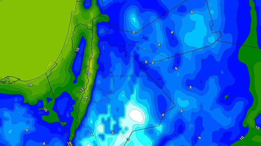 الليلة | انخفاض درجات الحرارة الليلية وفرصة لزخات من الأمطار في بعض الأجزاء بعد منتصف الليل