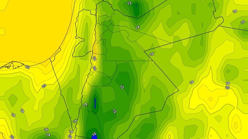 الليلة | انخفاض على درجات الحرارة وسيادة احوال جوية غير مستقرة