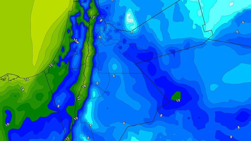 الليلة | طقس بارد واستمرار فرص هطول الأمطار الرعدية خاصه في اجزاء من جنوب المملكة