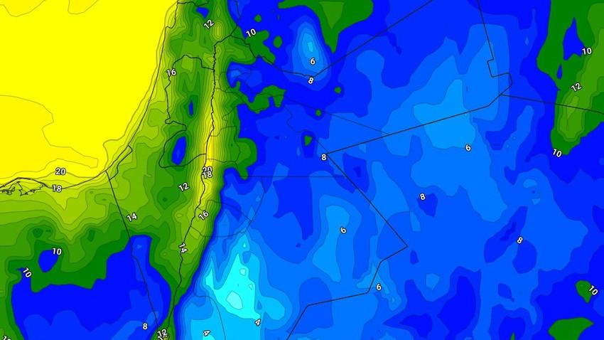 الليلة   طقس ضبابي بارد في العديد من المناطق،مع استمرار هطول زخات متفرقة من الأمطار