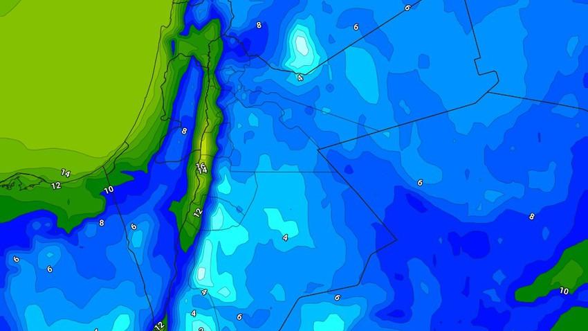 الليلة | انخفاض على درجات الحرارة مع هبوب الرياح الشمالية الغربية