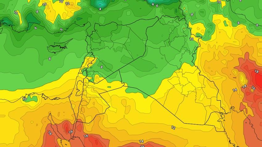 الأردن   انخفاض طفيف على درجات الحرارة مع بقاء الاجواء ربيعية دافئة خلال الايام القادمة