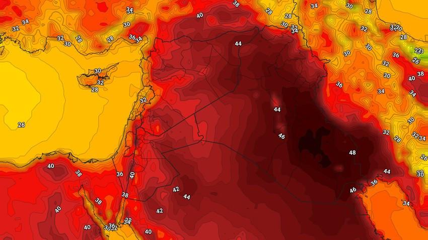 العراق | درجات الحرارة أعلى من مُعدلاتها الإعتيادية وطقس شديد الحرارة الإثنين