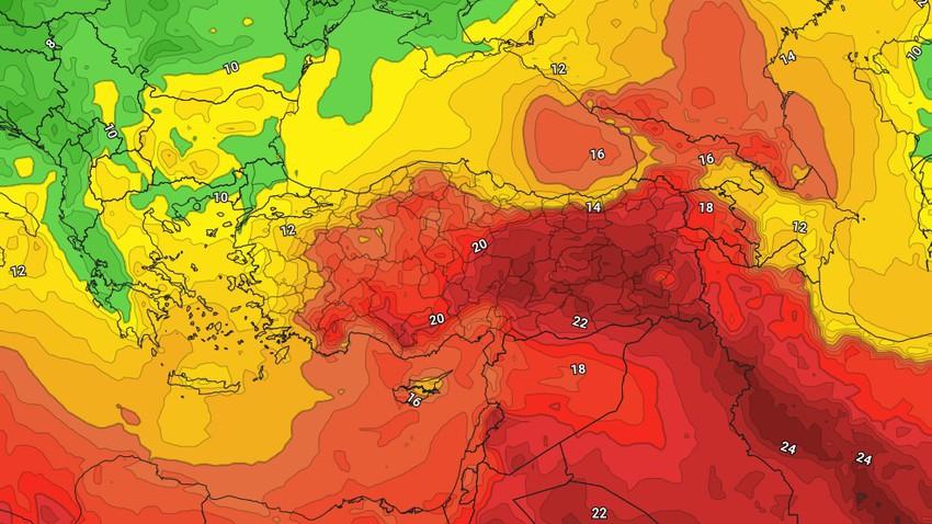 الخميس   ارتفاع طفيف على درجات الحرارة وفرصة ضعيفة لأمطار باجزاء محدودة
