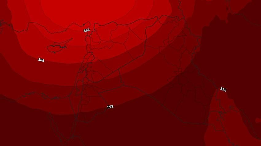الكويت | طقس شديد الحرارة في عموم المناطق مع ظهور السُحب المُتوسطة