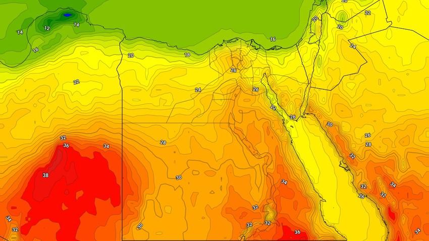 الأحد - مصر | مُنخفض جوي خماسيني جديد وارتفاع على درجات الحرارة